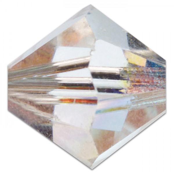 Glasschliffperlen 6mm 12 St. crystal Swarovski, Lochgr. ca. 0,9mm
