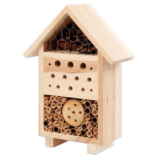 Insektenhotel Holz 26,1x18,4x9,2cm natur