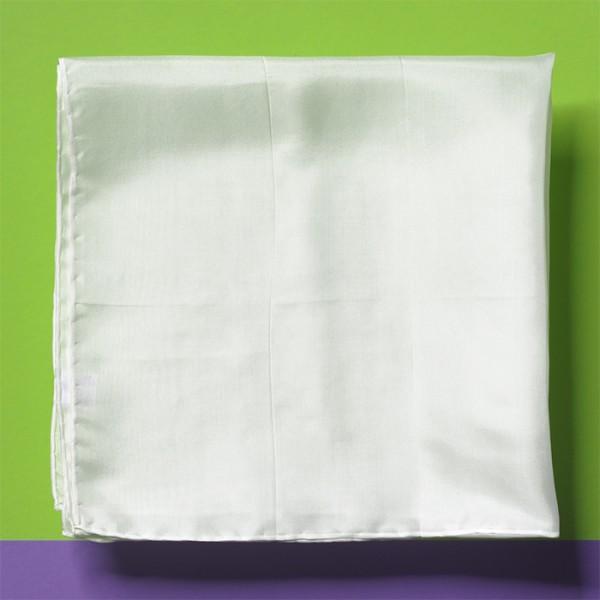 Nickituch Seide Pongé 06 55x55cm naturweiß 100% Seide