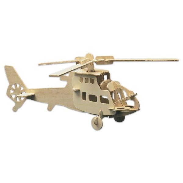 Holzbausatz Hubschrauber 35x15cm 24 Teile vorgestanzt, zum Zusammenstecken