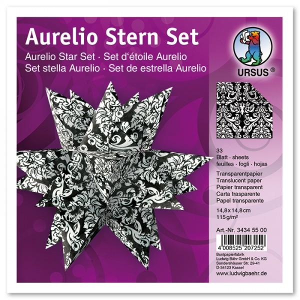 Faltblätter Aurelio Stern 33 Bl Blackwithe Wappen Tranparentpapier