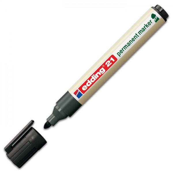 edding 21 EcoLine Permanentmarker Rundspitze schwarz Strichbreite 1,5-3mm
