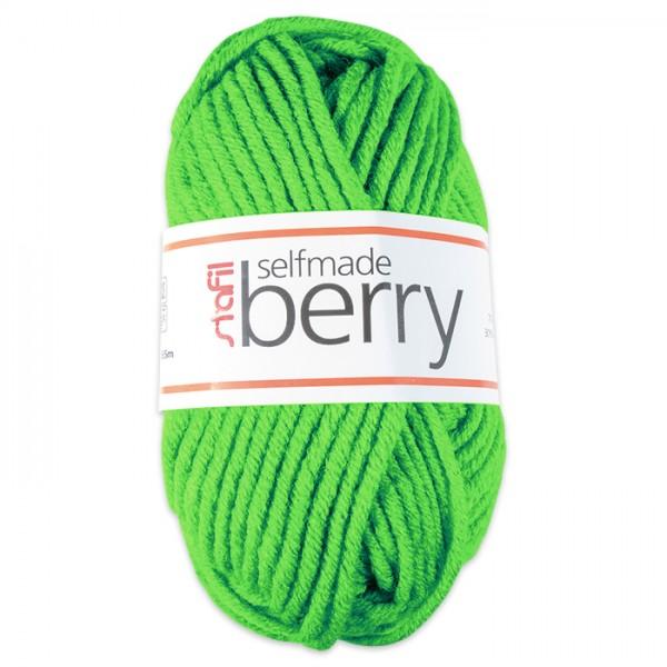 Wolle Berry 6-7mm 50g neon-grün 70% Polyacryl, 30% Wolle