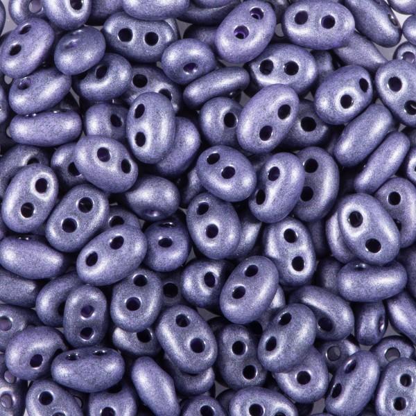 Twin-Beads matt 2,5x5mm 12g amethyst 2-Loch-Glasperlen, Lochgr. ca. 0,9mm