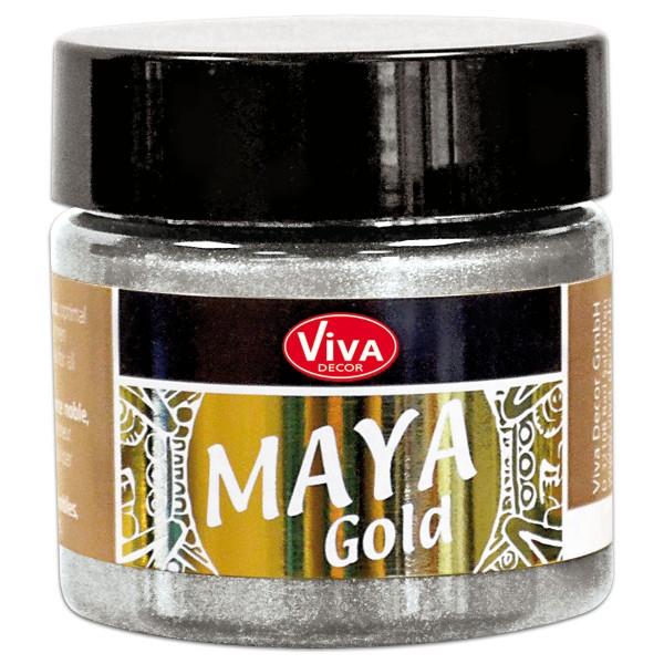 Maya-Gold Dekorfarbe flüssig 45ml silber