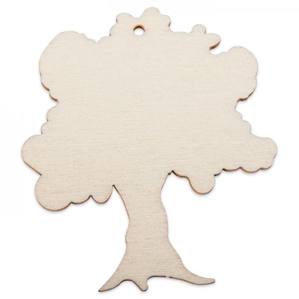 Holzmotiv Baum 3mm stark ca. 6cm natur