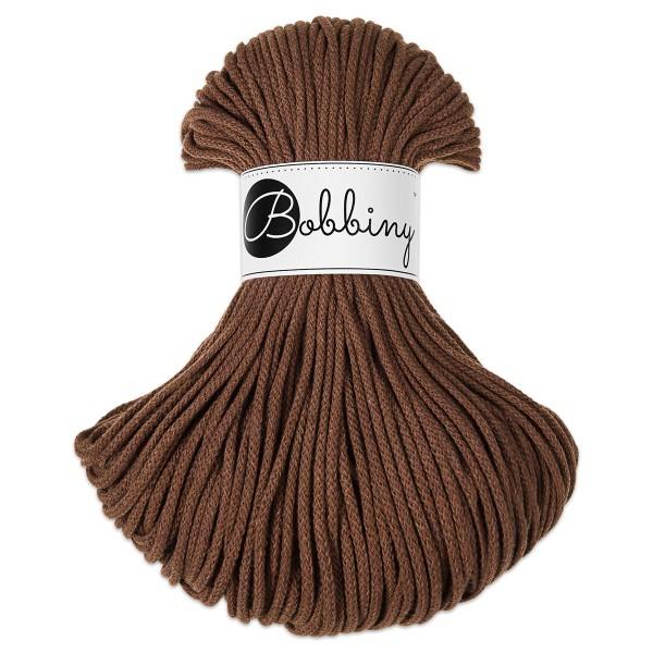 Bobbiny Rope-Garn Junior Ø3mm mocha ca. 200g-300g, 100% Baumwolle, LL 100m, Nadel Nr. 8-10