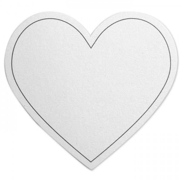 Herzen Perlmutt-Oberfläche 75x69cm 10 St. weiß Karton 120g/m²