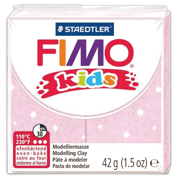 FIMO kids 55x55x10mm 42g light pink ofenhärtende Modelliermasse