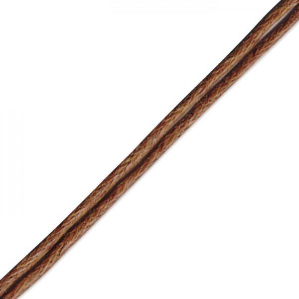 Kordel gewachst 1mm 10m braun 50% Baumwolle, 50% Polyester