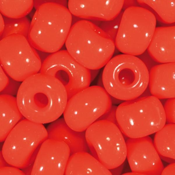 Rocailles satt glänzend 4,5mm 17g corall Glas, Lochgr. ca. 1mm