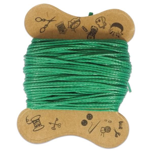 Kordel gewachst 0,5mm 10m grün 100% Baumwolle