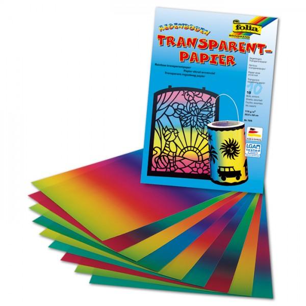 Regenbogen-Transparentpapier 22x32cm 10 Bl. 100g/m²