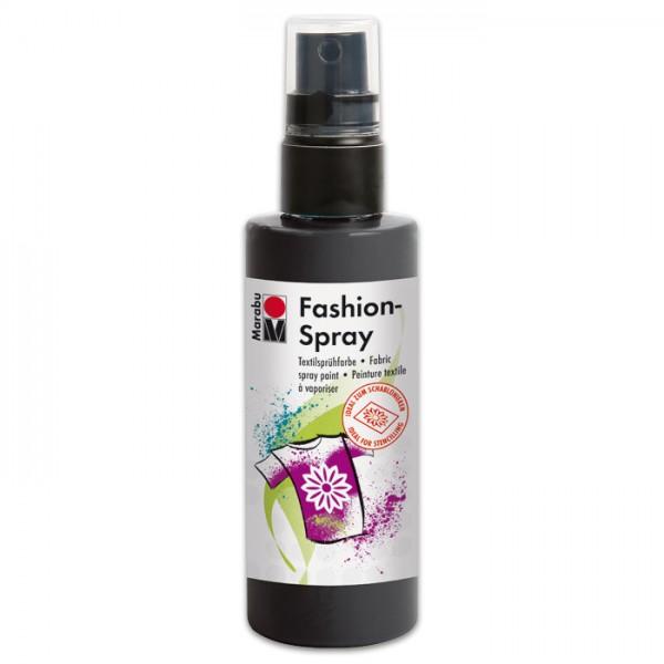 Marabu Fashion-Spray 100ml schwarz Textilsprühfarbe für helle Stoffe