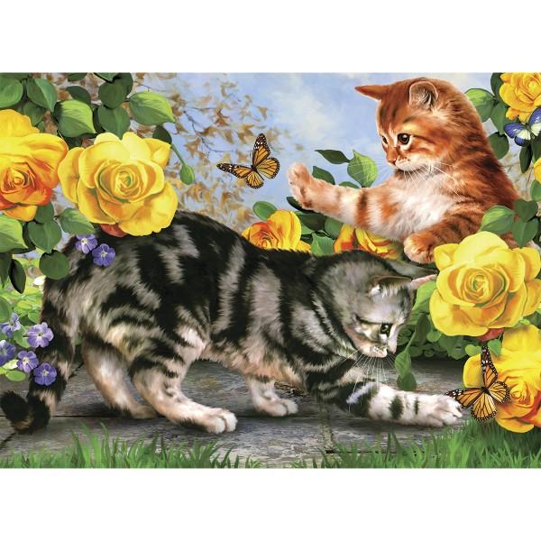 Malen nach Zahlen 29x28,6cm spielende Katzen