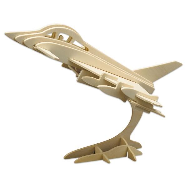Holzbausatz Eurofighter 25x20cm 28 Teile vorgestanzt, zum Zusammenstecken