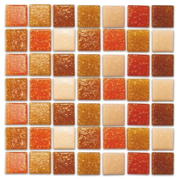 Glasmosaik Joy 10x10x4mm 200g terra mix ca. 290 Steine