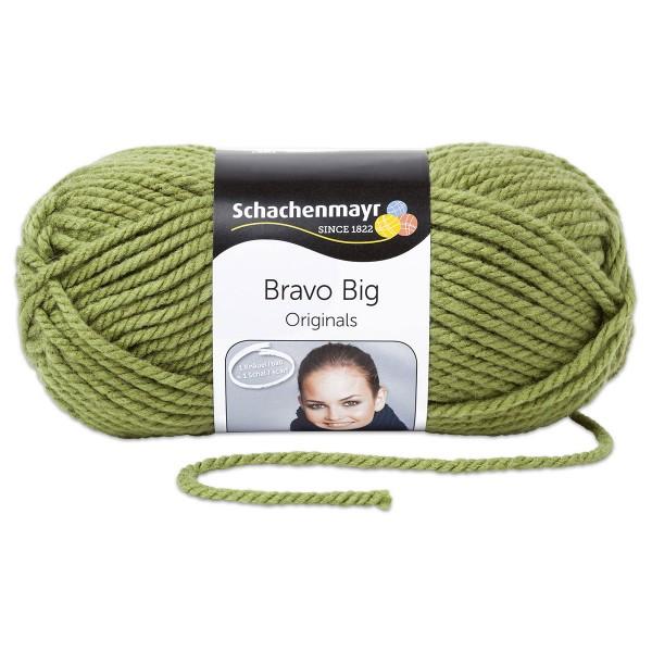 Wolle Bravo Big classic 200g khaki LL ca.120m, Nadel Nr. 10, 100% Polyacryl