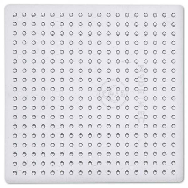 Steckplatte Quadrat Kunststoff 9x9cm transparent für Nabbi-Bügelperlen medium