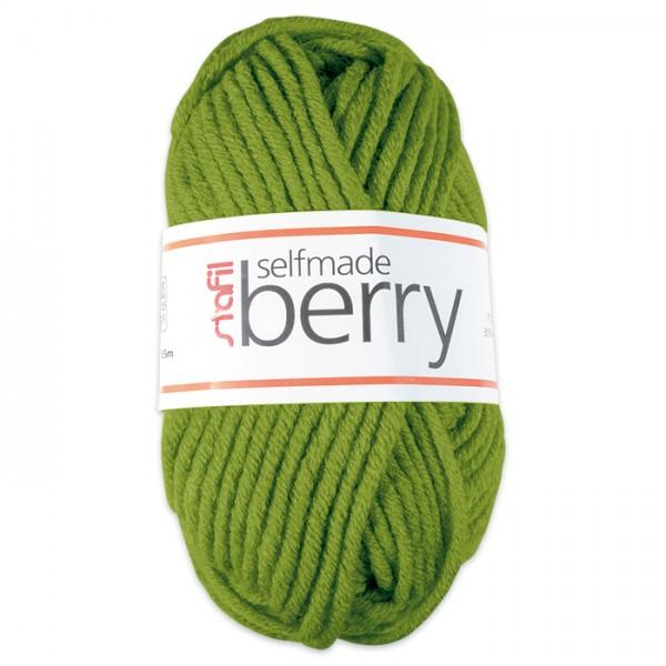 Wolle Berry 6-7mm 50g apfelgrün 70% Polyacryl, 30% Wolle
