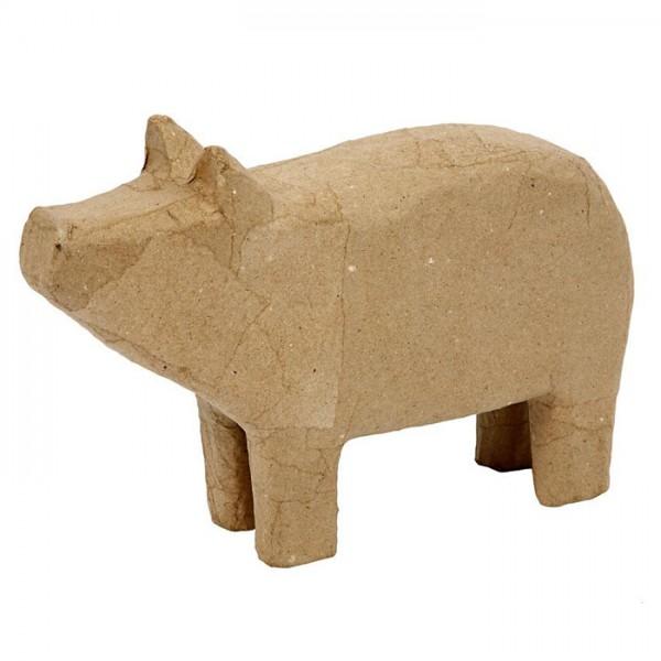 Schwein Pappmaché 26x17,5x5,5cm