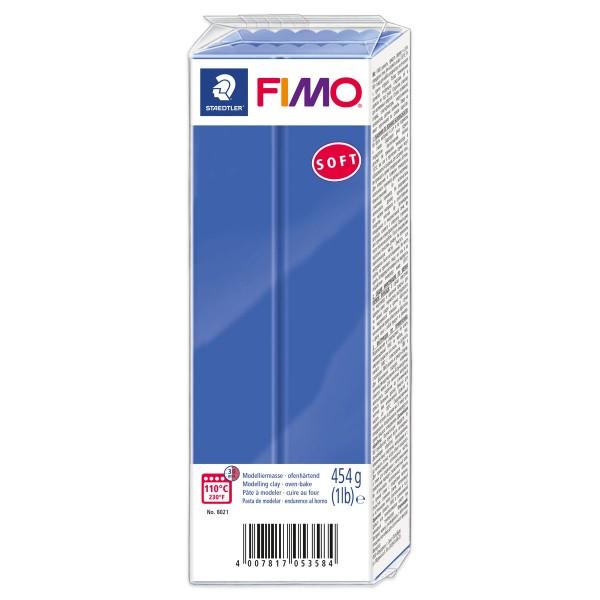 FIMO soft Großblock 454g brillantblau ofenhärtende Modelliermasse