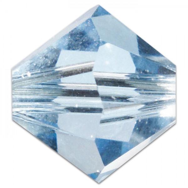Glasschliffperlen 6mm 12 St. aqua Swarovski, Lochgr. ca. 0,9mm