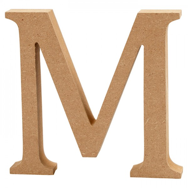 Buchstabe M MDF ca. 80x130x20mm