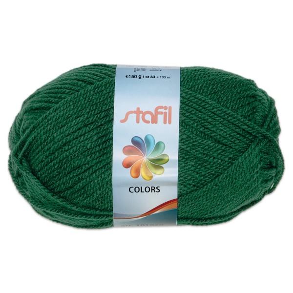 Wolle Colors 50g tannengrün LL ca.133m, Nadel Nr. 3, 100% Polyacryl