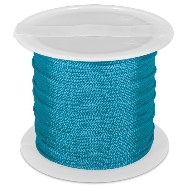 Knüpfgarn glänzend 1mm 5m türkis 100% Polyester