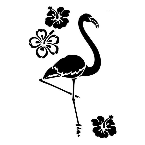 Universal-Schablone DIN A4 Flamingo & Blumen Kunststoff