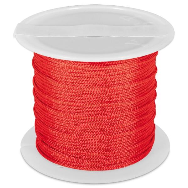 Knüpfgarn glänzend 1mm 5m hellrot 100% Polyester