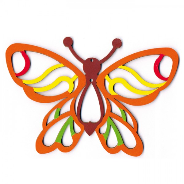 Schmetterling 1 Holz 3mm ca. 190x135mm natur