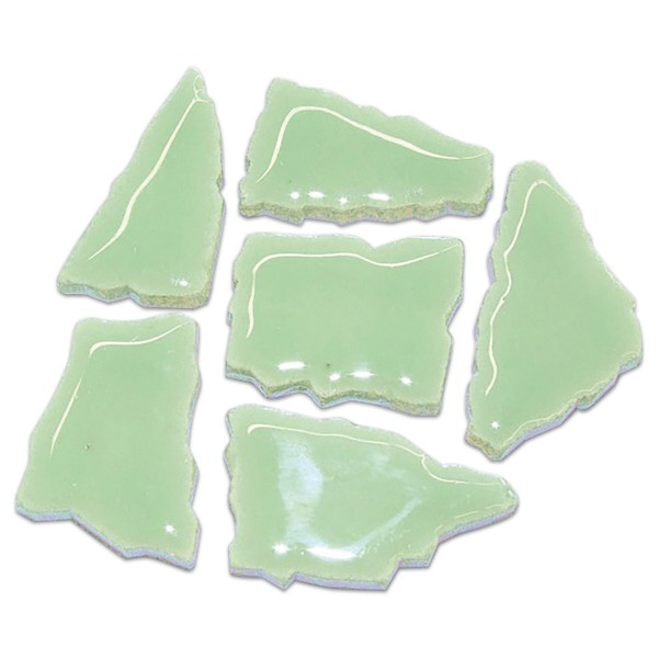 Flip-Keramik 2-6cm 3kg ca. 260 Steine lindgrün ca. 6,5mm