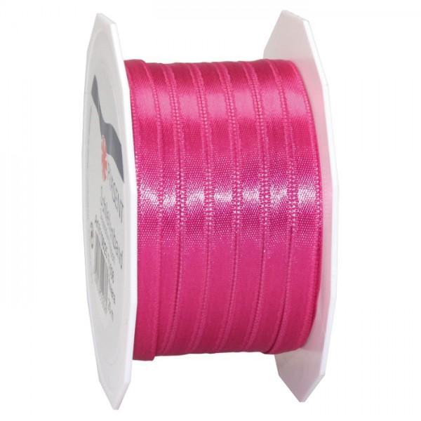 Satinband 10mm 25m magenta 100% Polyester