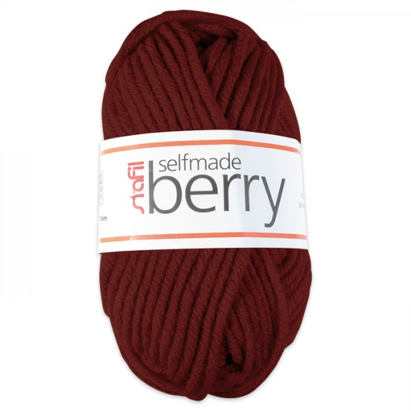 Wolle Berry 6-7mm 50g bordeaux 70% Polyacryl, 30% Wolle