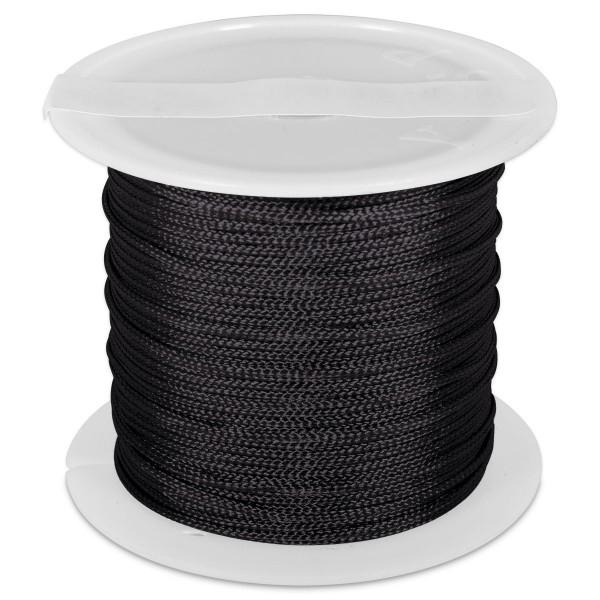 Knüpfgarn glänzend 1mm 5m schwarz 100% Polyester