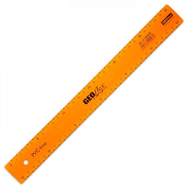 Geo-Flex Lineal unzerbrechlich 30cm orange Kunststoff