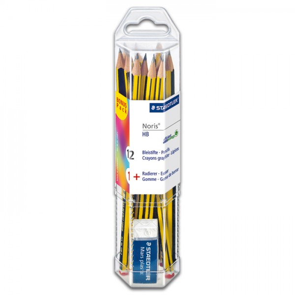 Noris 120 Bonus-Pack 12 Bleistifte HB + 1 Radierer