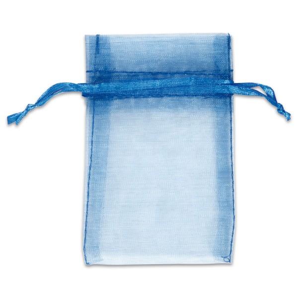 Organzabeutel 7x10cm 10 St. blau Nylon, mit Zugband