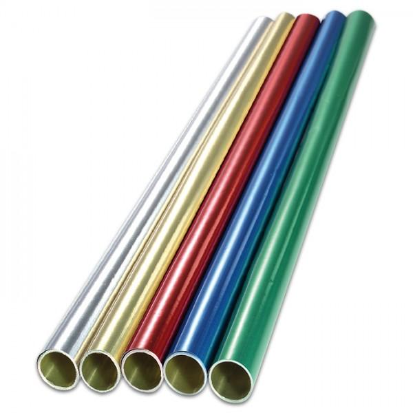Alu-Bastelfolie 50x78cm 5 Farben 10 Rollen gold/silber/rot/blau/grün, Rückseite gold