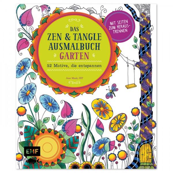 Buch - Das Zen & Tangle Ausmalbuch Garten 128 Seiten, 21,6x25,4cm, Softcover