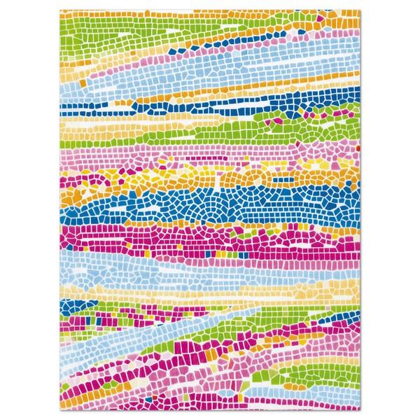 Decoupagepapier Mosaik grellbunt von Décopatch, 30x40cm, 20g/m²
