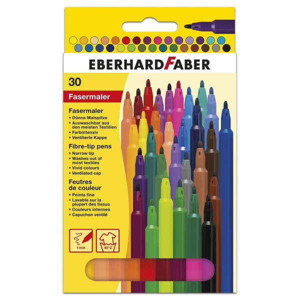 Eberhard Faber Strichbreite 1mm 30 Fasermaler