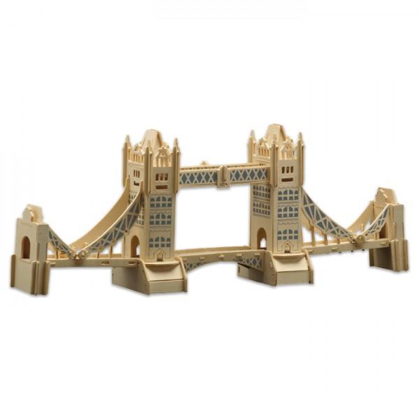 Holzbausatz London Tower Bridge 58x22cm 107 Teile vorgestanzt, zum Zusammenstecken