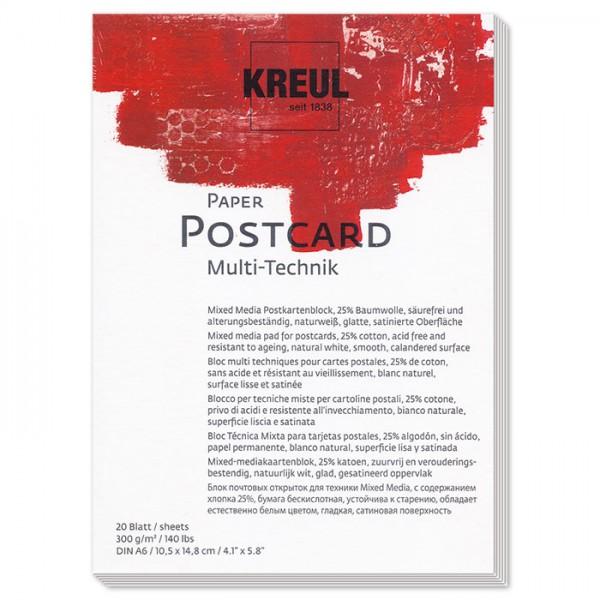Paper Mixed Media 300g/m² DIN A6 20 Bl. naturweiß Künstlerblock, Postkartenformat