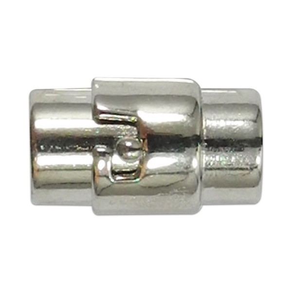 Magnetverschluss zum drehen 16x6mm platinfarben Innendurchmesser 4mm, Metall