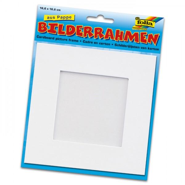 Bilderrahmen Pappe 16,6x16,6cm weiß Ausschnitt: 10x10cm
