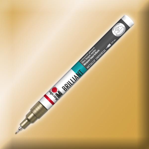 Brillant-Painter Finelinerspitze 0,8mm goldfarben Lackmalstift