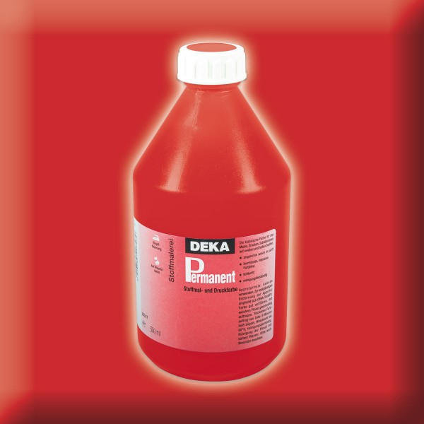 Deka-Permanent Stoffmalfarbe 500ml karmin